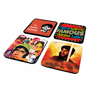AAA & Khuda Gawah Combo - Set of 4  Rubber Coaster