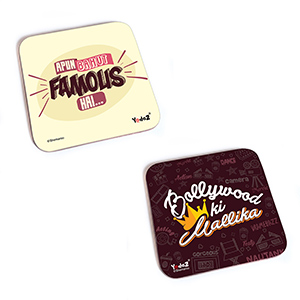 Bollywood Square Rubber Coaster - Women Co...