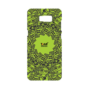 Samsung S8 Green Musical Notes